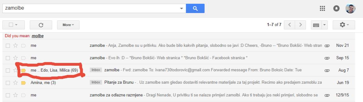 ovo je samo email
