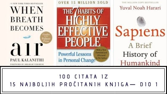 100 citata iz 15 najboljih pročitanih knjiga— dio 1