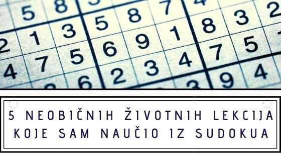 5 neobičnih životnih lekcija koje sam naučio iz Sudokua